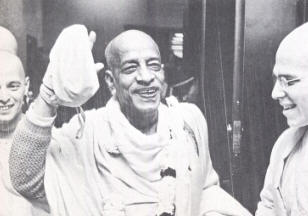 Srila Prabhupada in Boston Airport